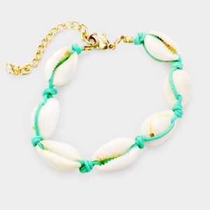Puka Shell Cord Braid Bracelet